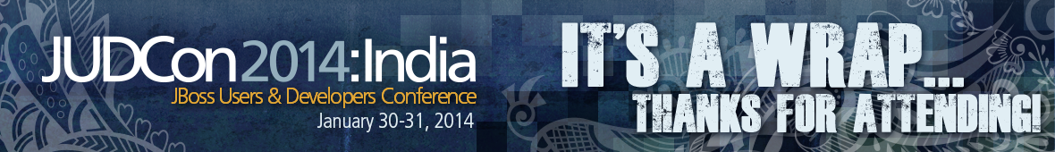 JUDCon 2014: India. The JBoss conference by developers, for developers.