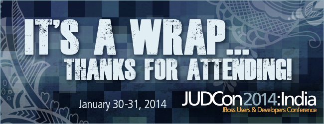 Thanks for attending JUDCon2014 India.