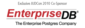 EnterpriseDB... 2010 JUDCon Co-sponsor