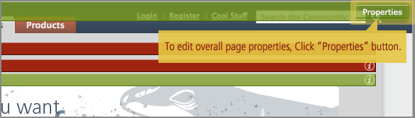 Edit page properties step 1